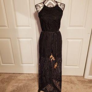 B, Darlin black lace Maxi dress size 5/6
